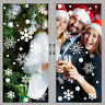 48Pcs Snowflakes Christmas Window Sticker Winter Xmas Wall Decal Stickers Decor