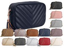 New Designer Inspired Quilted Chevron Mini Bag Womens Shoulder HandBag Gift Idea