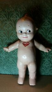 """VINTAGE AUTHENTIC ROSE O'NEILL COMPOSITION KEWPIE DOLL JOINTED ARMS 11.5"""""""