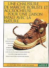 PUBLICITE  ADVERTISING  1998    AIGLE    une  chaussure de marche