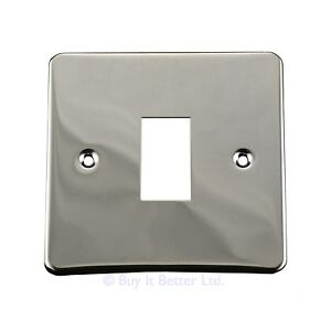 Light Switch Conversion Metal Cover Plate Modern Chrome No Wiring Single/Double