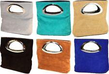 LUXUS HANDTASCHE echt LEDER Clutch Tasche Wildleder ITALY BAG CLUTCH H/M-11 NEU