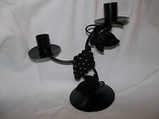 Twin grape design candle holder