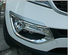 Chrome Fog Light Lamp Protector Cover Trim for 11-13 Kia Sportage w/Tracking No.