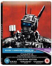 Chappie (4000 ONLY HMV Exclusive Limited Edition Blu-ray Steelbook) [UK]