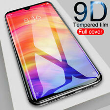 For Xiaomi Redmi Note 7 9D Curved  Tempered Glass Full Screen Protector Black