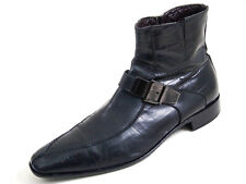 Cesare Paciotti Ankle Boots Black Eel Skin Leather Men Size EU 41 US 8 $580