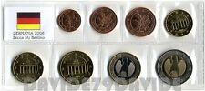 SERIE COMPLETA 8 MONETE EURO GERMANIA 2006 ZECCA ( A ) IN BLISTER