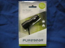 NEW PURE GEAR 02-001-01240 CAR CHARGER WITH USB PORT WORKS W/ MICRO-USB DEVICES