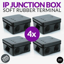 4X CCTV Outdoor BLACK IP Junction Box IP55 For Cameras Connection 100% UK Spec