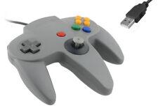 N64-Nintendo 64 Estilo-USB controlador clásico-GAME PAD En Gris para PC MAC