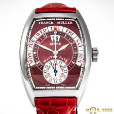 FRANCK  MULLER  CINTREE CURVEX  MASTER DATE 8880 GD 18K WHITE  GOLD LARGE XL B&P