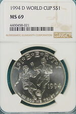 1994-D NGC MS69 WORLD CUP Commemorative Dollar!! #A7211