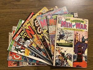 All American Men of War/Combat Kelly lot of 9 Silver Age