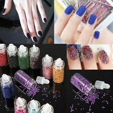 Lot of 12 Bottles Nail Art Caviar Balls Glitter Ball Beads Manicure Decoration