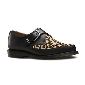 Dr. Martens - Hawley Smooth Black 20861002 Monk Strap Rockabilly Creeper Giraffe