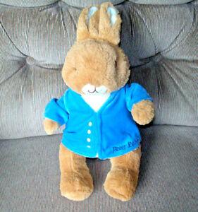 Kids Preferred Beatrix Potter Peter Rabbit Soft 12in Bown Plush Blue Jacket