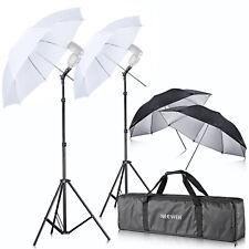 Neewer Speedlite Translucent Soft Umbrella Kit Double Flash Light ShoeMount