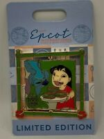 Disney Pin Epcot International Food And Wine Festival 2017 Lilo & Stitch LE Spin