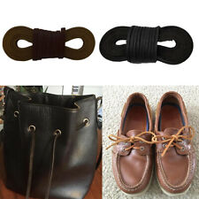 2x 72in Cowhide Leather Square Shoe Boot Laces Thong Strong Shoelaces Cord
