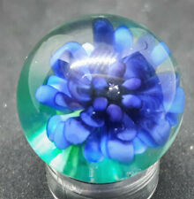 Blue Cornflower Marble For ALSAWI - By George Pavliscak - marbles ALS charity