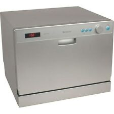 Portable Compact Countertop Dishwasher, Silver Energy Star Apartment Dish Washer