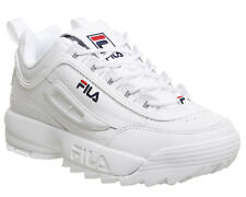 Womens Fila Disruptor Ii Trainers White Leather Trainers Shoes