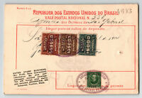Brazil 1914 Parcel Receipt / Punch Holes / Philatelic Related (II) - Z13515