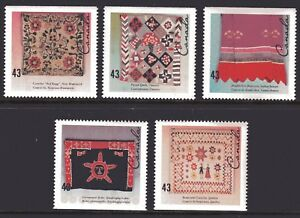 1993 Canada SC# 1461-1465 - Hand-Crafted Textiles Lot# 246 M-NH