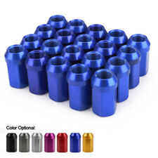 20pc Blue Wheel Nuts M12x1.5 Tapered Seat 17mm Hex Bolt Lug Stud for Ford