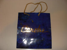 Carolee Jewelry small Blue paper Shopping Bag / Tote w/ Cord Handle