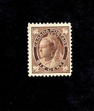 CANADA Scott #71, 1897 6c Victoria Mint, no gum.  (SEE PHOTO)