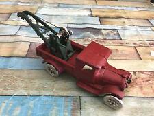 Voiture Miniature Camion Dépanneuse Rouge en Fonte Style Ford au 1/24