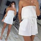 Womens Holiday Mini Playsuit Ladies Jumpsuit Summer Beach Dress Size S-XL