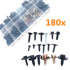 180x Mixed Steel Self-tapping Screw Car Fender Bumper Mudflap Fastener Clip Bolt