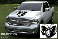 Any Truck Hood Decal, Vinyl Sticker, Hunting Edition, Hunters Car Decal Graphics