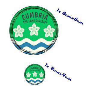 2pcs CUMBRIA The Lake District Vinyl Car Sticker Decal Waterproof
