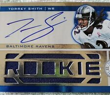 Torrey Smith Autograph BALTIMORE RAVENS Panini 2012 RC #43/499. ROOKIE JERSEY