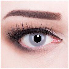Farbige Fasching Kontaktlinsen Zombie Grey grau graue ohne Stärke Crazy Fun