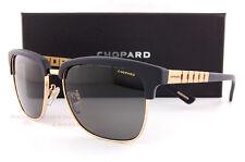 New Chopard Sunglasses SCH B30 300Z  Matte Black Gold/Gradient Gray For Men