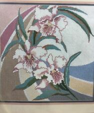 "Something Special Needlepoint Kit ""Orchid Deco"" # 30544 ,Size 14"" x 14"""