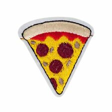 Pizza Slice (Iron on) Embroidery Applique Patch Sew Iron Badge