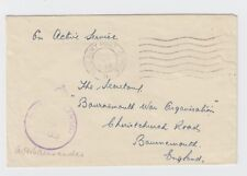 WW2 Base Army Post Office 5 Algers Active Service Cover to Bournemouth 1943