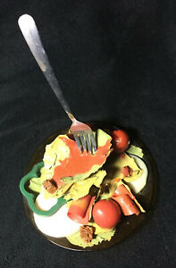 Vintage Geoffrey Rose Frozen Moments Pop Art Salad With Fork With Sticker
