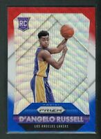2015-16 D ANGELO RUSSELL PANINI PRIZM WAVE RED BLUE ROOKIE RC #322