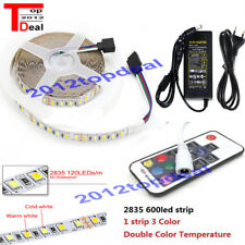 5M Double White +Warm White 2835 LED Strip light +17Key controller+12V power