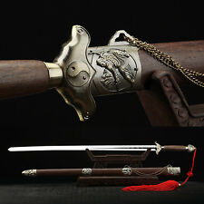 """Hand Forge 40 Inches  Chinese Sword """"Tai Chi Jian"""" Stainless Steel Alloy Fitting"""