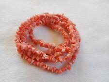 "Vintage genuine coral clusters necklace,34"""