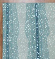 New Brand 5 x 8 Antelope Blue Handmade Contemporary Style Woolen Rug & Carpets