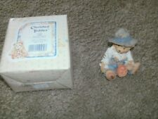 "Cherished Teddies 1993 #912786 ""Gary"" Scarecrow Figurine Free Shipping"